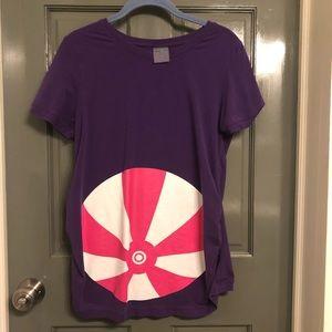 Purple maternity beachball shirt